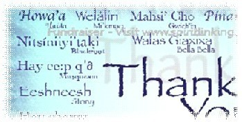 Clip of 2008 version of Aboriginal Language Thank You Postcard Fundraiser from Spiritlink